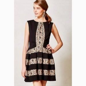 Anthropologie Eva Franco Black Laced Strata Dress